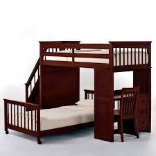 NE Kids Schoolhouse Stairway Loft Bed Cherry Hayneedle - Simply bunk beds