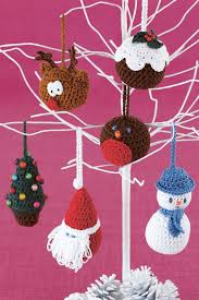 festive tree decorations crochet patterns the knitting