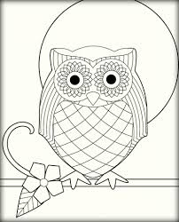 10 simple owl coloring pages for adults color zini