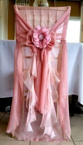 Pink Chair Covers Raffled Back Chair Cover Chiffon Organza Raffled Chair Cover