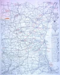 Northern Wisconsin Map by Ecc Rand Mcnally Official 1919 Auto Trails Map District Number