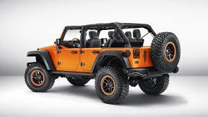 jeep concept vehicles 2015 jeep cherokee krawler u0026 wrangler rubicon sunriser concepts bow in