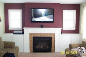 decorating vintage living room ideas with hiding wires mounting tv
