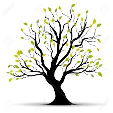 green tree isolated a white background royalty free cliparts