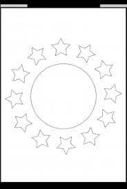 shape tracing and coloring preschool worksheet printable