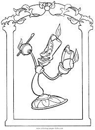lumiere beauty beast color disney coloring pages