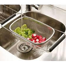 over the sink colander adjustable over sink strainer stainless steel mesh kitchen colander