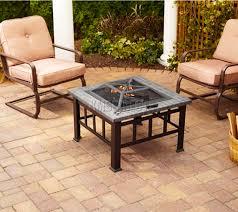 Buy Patio Heater by Foxhunter Garden Steel Fire Pit Firepit Brazier Square Patio