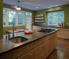 concrete countertop ideas kitchen contemporary with kitchen