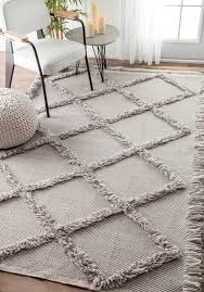 devon diamond trellis tassel shag rug from candolim by nuloom