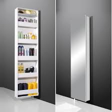 rotating storage cabinet with mirror egmore mirrored rotating bathroom storage cabinet in white will make