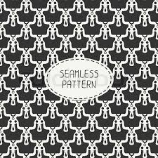 skull wrapping paper geometric monochrome line seamless pattern with vintage