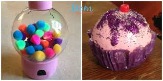 diy gumball machine and cupcake ornament how sweet craft