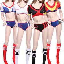 halloween costume cheerleader soccer costume soccer player cheerleader fancy dress w