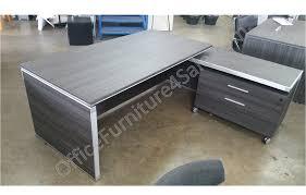 Office L Desks by Chiarezza Executive Split Level L Shaped Desk With Locking Lateral