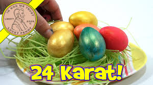 gold easter eggs 24 karat golden easter egg coloring kit plastic easter eggs