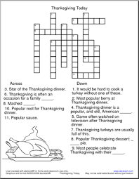this thanksgiving themed crossword puzzle is for