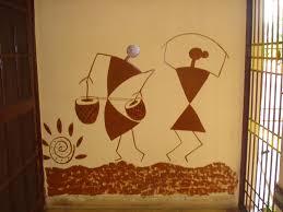 Warli Art Simple Designs Warli Art On A Wall Near A Door Entrance Fanart Pinterest