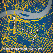 Berkeley Campus Map University Of Tennessee At Chattanooga Campus Map Art City Prints