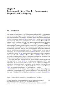 posttraumatic stress disorder controversies diagnosis and