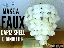 Chandelier Making Supplies How To Make A Faux Capiz Shell Chandelier I Ep 02 Youtube