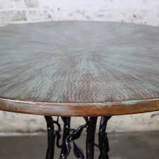 Copper Top Dining Room Tables Copper Top Forest Dining Table Hand Hammered Recycled Copper
