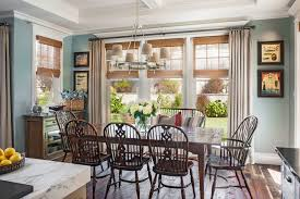 dining room window treatments ideas solid color dining