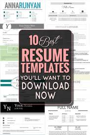 Best Free Resume Templates Best 25 Best Resume Template Ideas Only On Pinterest Best