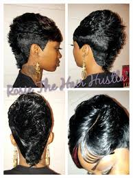 black hair 27 piece with sidebob pin by lady t on kuttin up pinterest mohawks haircuts and