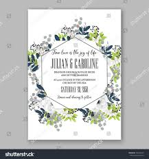E Wedding Invitation Cards Anemone Wedding Invitation Card Template Floral Stock Vector