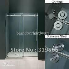 Shower Sliding Door Hardware 2018 Frameless Sliding Glass Shower Door Hardware From
