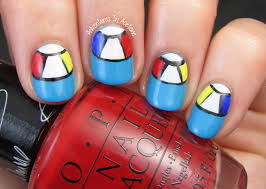 summer nail art beach ball half moons adventures in acetone
