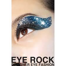 rock cosmetics eye rock eye tattoos silver on blue eleven se