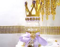crown lavender and gold baby shower large bottle flower