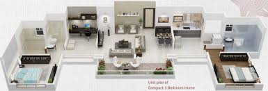 1300 sq ft 3 bhk 3t apartment for sale in kolte patil three jewels