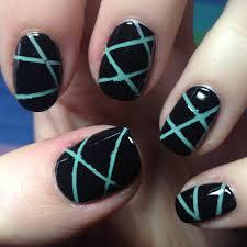 thin blue line nail art images nail art designs
