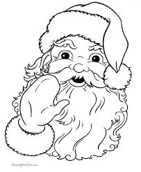 christmas coloring sheets santa claus
