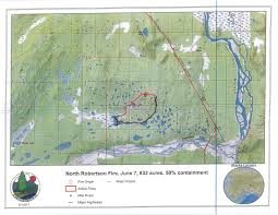 Alaska Flight Map by Containment At 50 Percent On North Robertson Fire Near Tok Ak