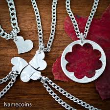 puzzle love necklace images 5 best friends heart necklaces family jewelry namecoins jpg