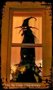 the crepe confectionary witchy window silhouette diy