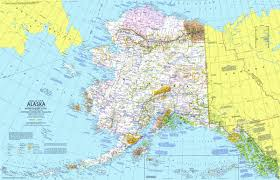 Southeast Alaska Map National Geographic Alaska Map 1975 Maps Com