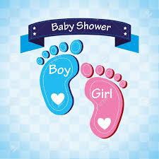 baby shower over blue background vector illustration royalty free