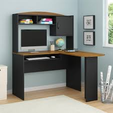 ameriwood furniture mainstays l shaped desk with hutch brown oak