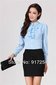 business blouses slim fashion autumn business suits blouses and