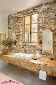 rustic bathroom with tile floors vessel sink zillow