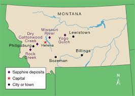 Production Map Gem Quality Mining Countries Big Sky Country Sapphire Visiting Montana S Alluvial Deposits