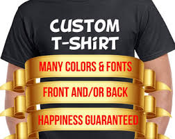 custom t shirts etsy