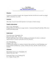 Resume Samples For Interior Designers Graphic Design Cover Letter Sample Pdf