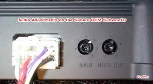 oem underseat subwoofer info