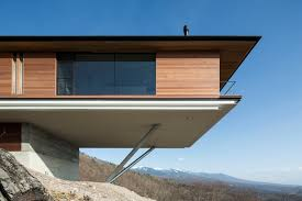 cantilever homes mountain home glass walls and terrace made for views